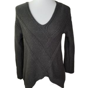 360 SWEATER Dark Grey Cable Knit Sweater
